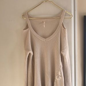 Free people sweater cut out sweater
